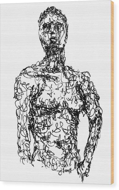 Figure Wood Print