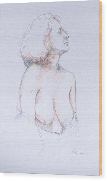 Figure Study Profile 1 Wood Print