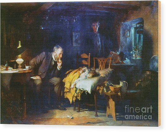 Fildes The Doctor 1891 Wood Print