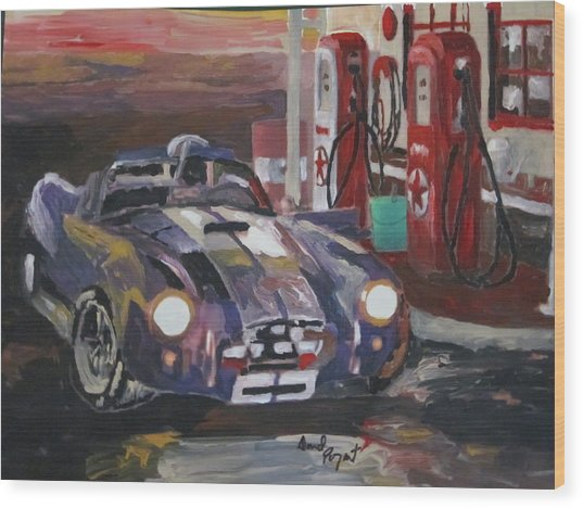Fill Er Up Wood Print by David Poyant Paintings