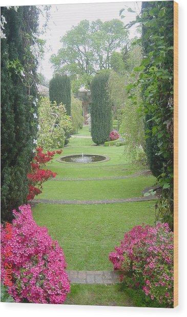 Filoli Gardens Wood Print by Shelley Capovilla