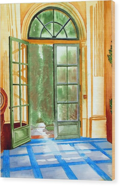 Filoli Tea House Wood Print by Gerald Carpenter