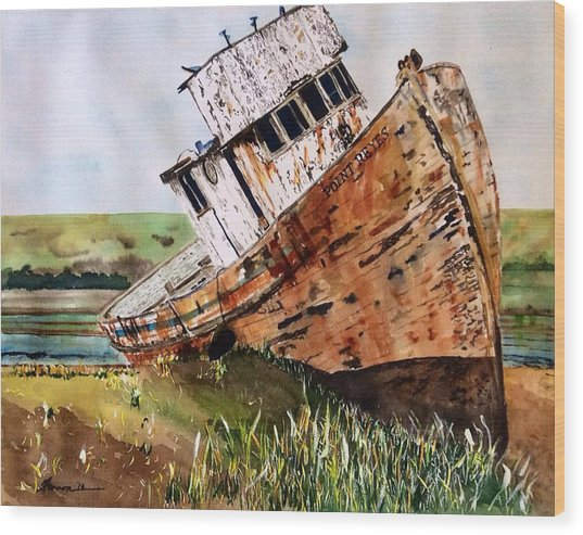 Wood Print featuring the painting Final Resting by Patti Ferron