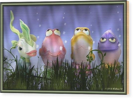 Finding Nemo Figurine Characters Wood Print