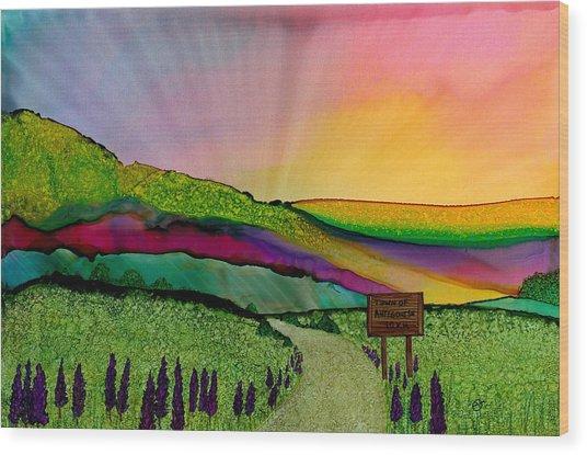 Find The Way Antigonish Ns Wood Print