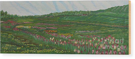 Finding The Way To You - Spring In Emmental Wood Print