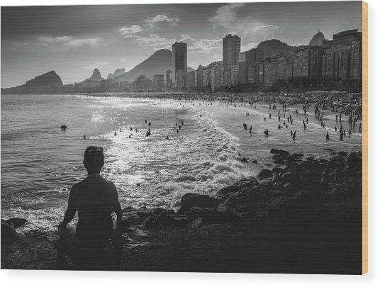 Fine Art Copacabana Rio De Janeiro, Brazil Wood Print