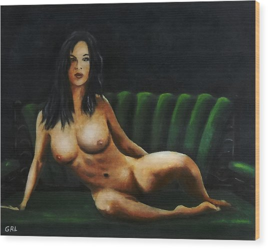 Fine Art Female Nude Sara Seated 2011 Wood Print