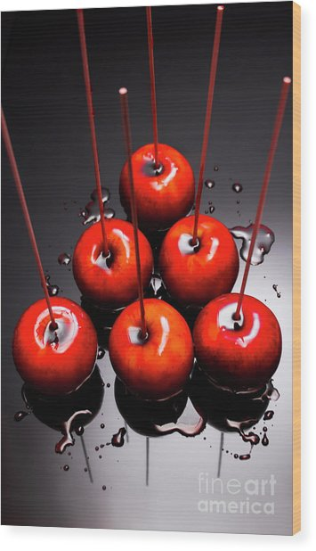 Fine Art Toffee Apple Dessert Wood Print