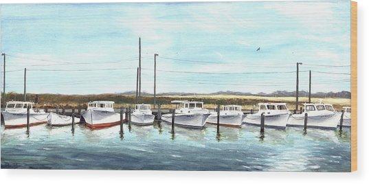 Fine Art Workboats Kent Island Chesapeak Maryland Original Oil Painting Wood Print