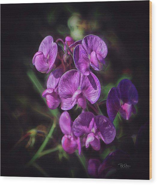 Fine Flower Arrangement Wood Print