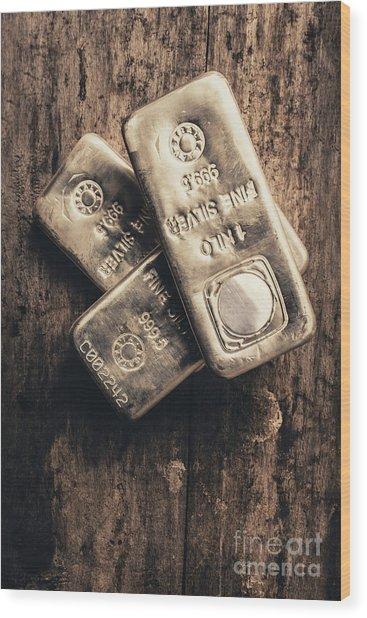 Fine Silver 999 Wood Print