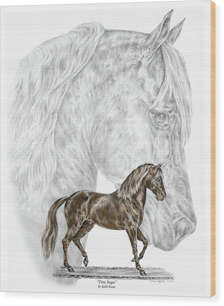 Fine Steps - Paso Fino Horse Print Color Tinted Wood Print