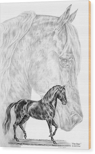 Fine Steps - Paso Fino Horse Print Wood Print