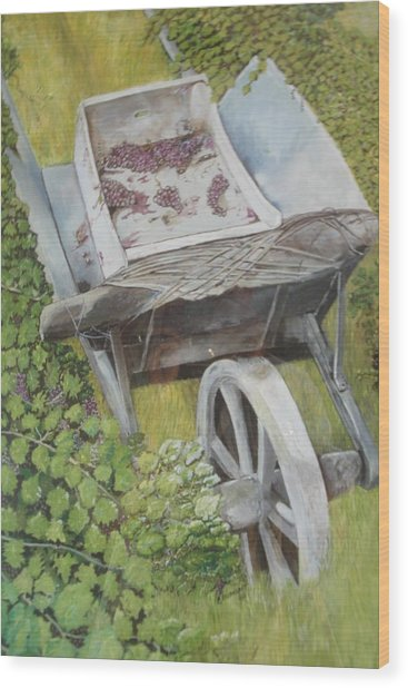 Finished Harvest Wood Print