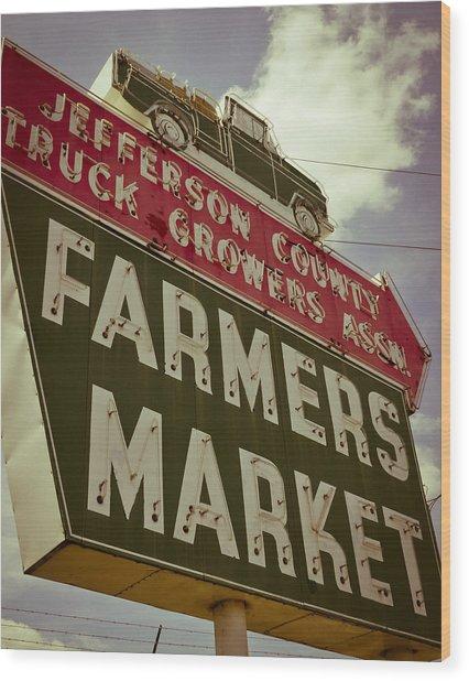 Finley Ave Farmer's Market Wood Print