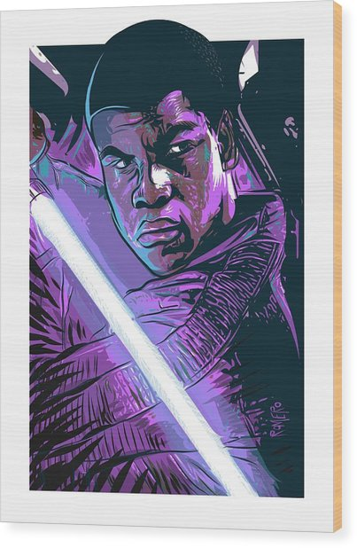 Wood Print featuring the digital art Finn by Antonio Romero