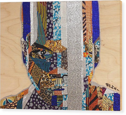 Finn Star Wars Awakens Afrofuturist  Wood Print