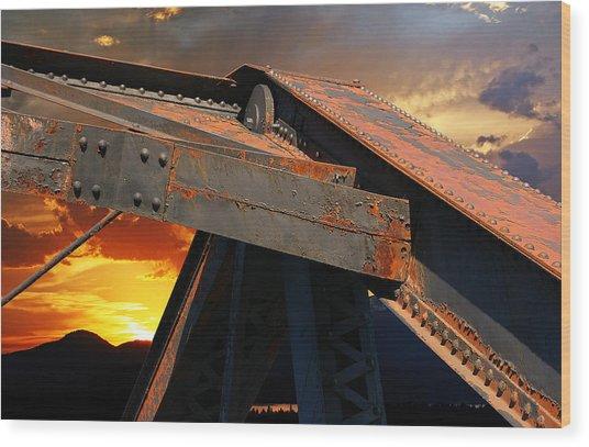 Fire Bridge Wood Print
