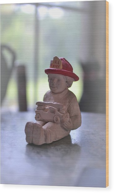 Fire Chief Molded Stone Wood Print