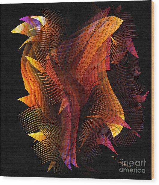 Fire Dance Wood Print