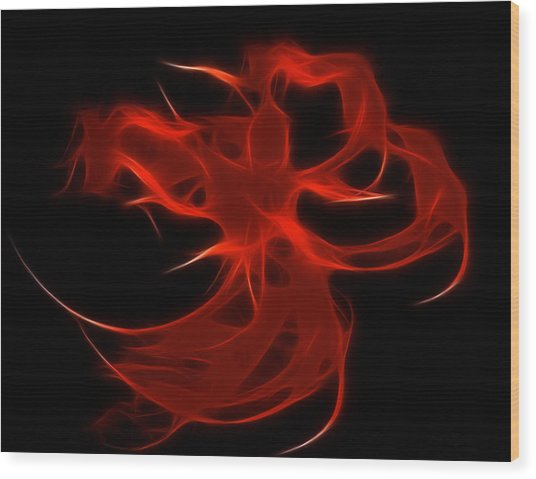 Fire Dancer Wood Print