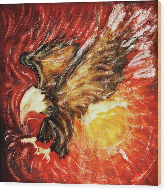 Fire Eagle Wood Print by Paul Tokarski