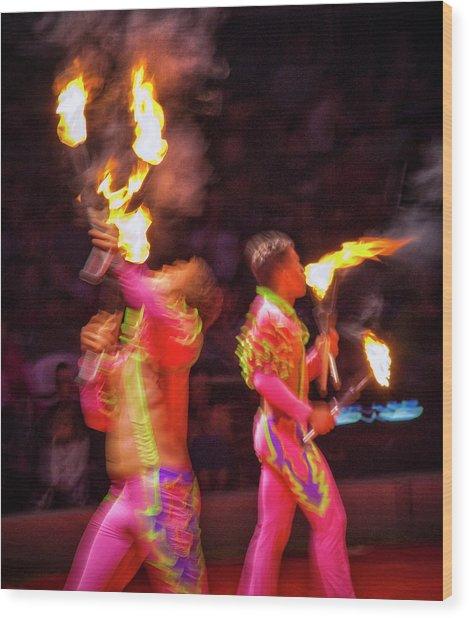 Fire Eaters Wood Print