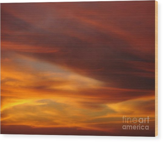 Fire In The Sky 2 Wood Print by Chad Natti