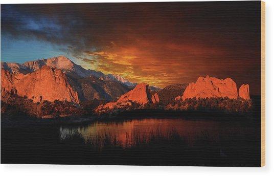Fire In The Sky Wood Print by John Hoffman