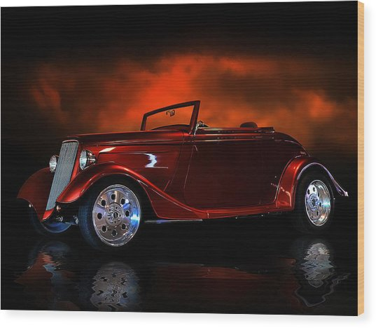 Fire Is The Lightning Wood Print by Rat Rod Studios
