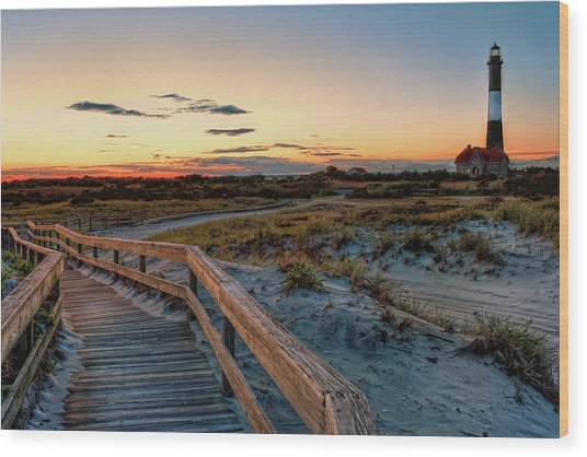 Fire Island Lighthouse At Robert Moses State Park Wood Print
