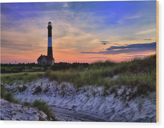 Fire Island Lighthouse Wood Print
