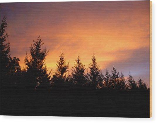 Fire Wood Print by Laura Burchfield