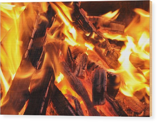 Fire Wood Print by Leonard Voicu