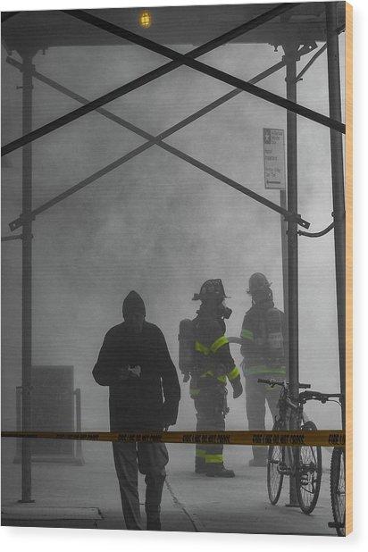 Fire Line Wood Print