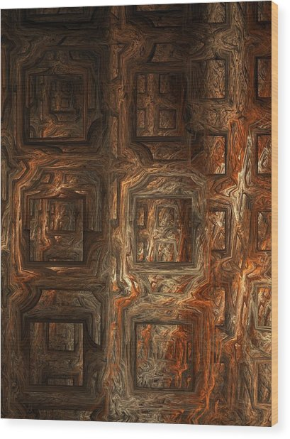 Fire Of London Wood Print by Ian Duncan Anderson