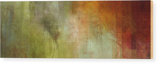 Wood Print featuring the painting Fire On The Mountain - Abstract Art by Jaison Cianelli