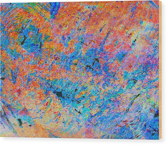 Fire Opal Wood Print