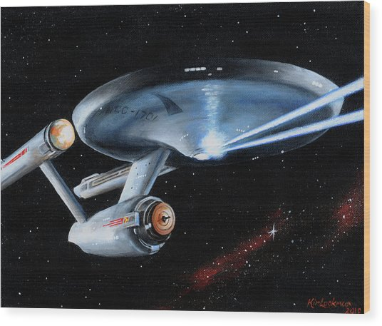 Fire Phasers Wood Print