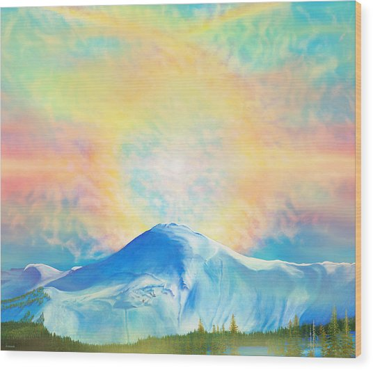 Fire Rainbow Over Alberta Peak Wolf Creek Colorado Wood Print