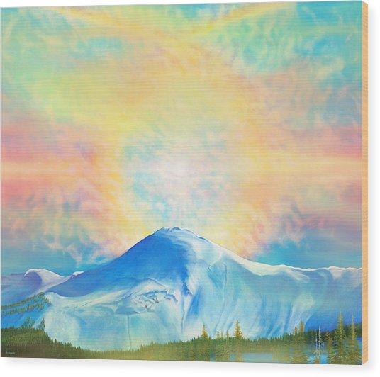 Fire Rainbow Over Alberta Peak Wolf Creek Colorado Wood Print