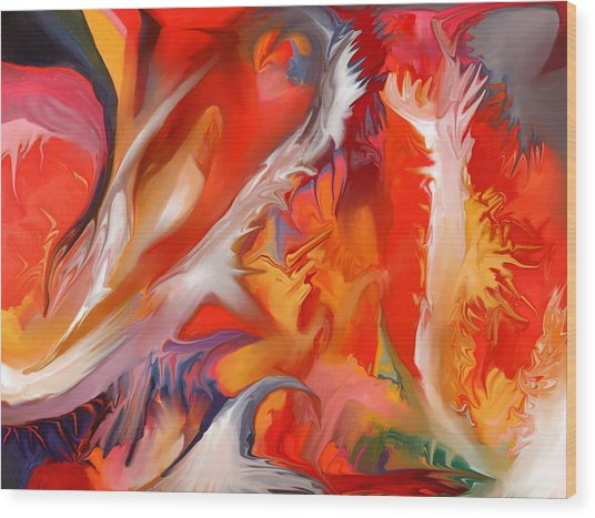 Fire Storm Wood Print by Peter Shor