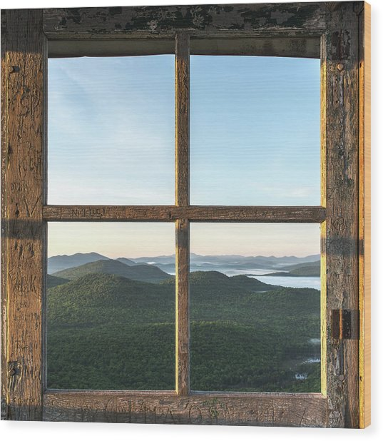 Fire Tower Frame Wood Print