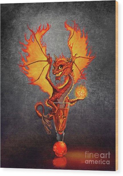 Fireball Dragon Wood Print