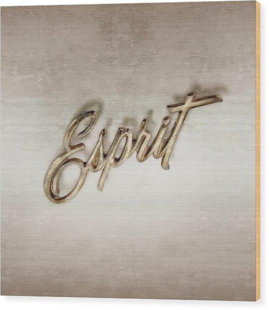 Firebird Esprit Chrome Emblem Wood Print