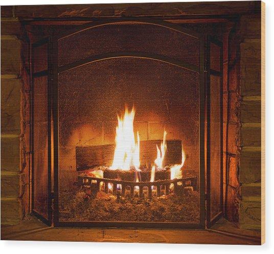 Firelight Wood Print
