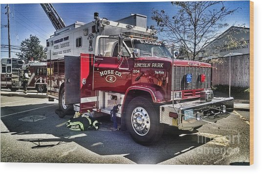 Firemen Honor And Sacrifice #1 Wood Print