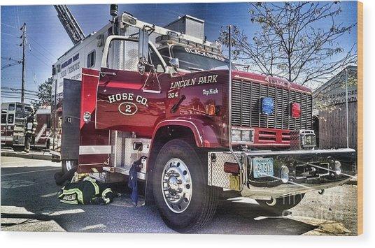Firemen Honor And Sacrifice #2 Wood Print