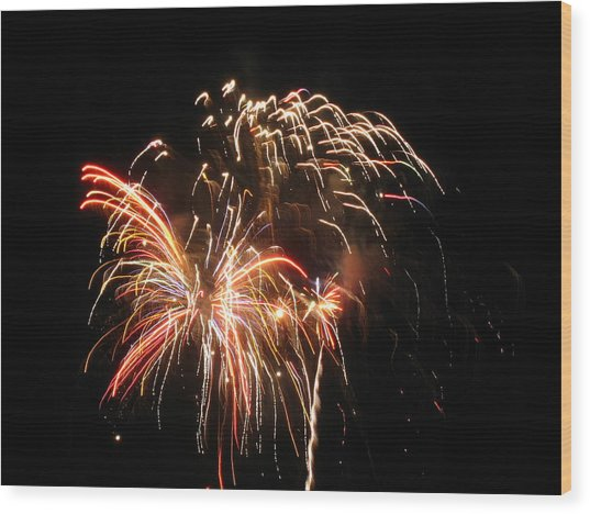 Firework 1 Wood Print